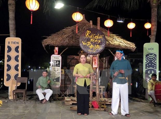 Celebran en Vietnam el reconocimiento por la UNESCO del arte Bai Choi hinh anh 1