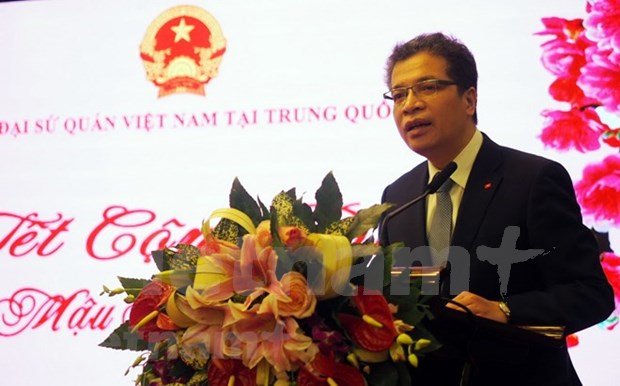 Cuerpo diplomatico laosiano en China felicita a Vietnam en ocasion de fundacion del Partido Comunista hinh anh 1