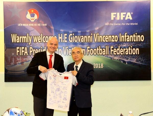 FIFA asistira al desarrollo del futbol en Vietnam hinh anh 1