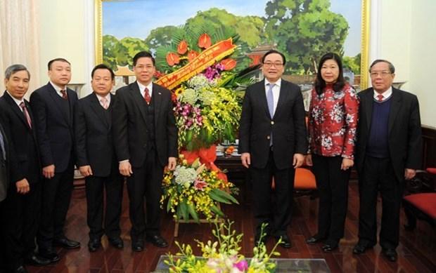 Iglesia Protestante del Norte de Vietnam se reunen con autoridades de Hanoi en ocasion del Tet hinh anh 1