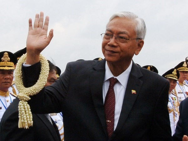 Presidente myanmeno llama a mayor unidad nacional hinh anh 1