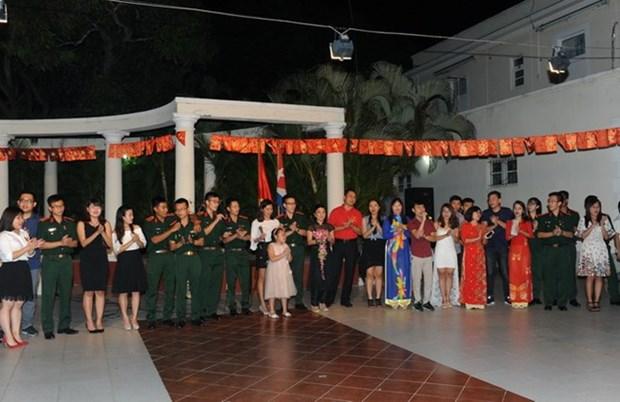Vietnamitas en Cuba celebran fiesta tradicional de primavera hinh anh 1