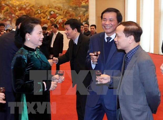 Oficina del Parlamento de Vietnam celebra el Ano Nuevo Lunar hinh anh 1