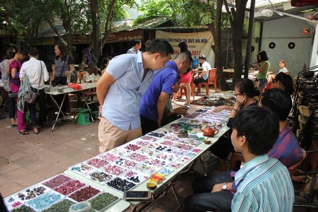 Mercado de piedras preciosas en Hanoi hinh anh 1