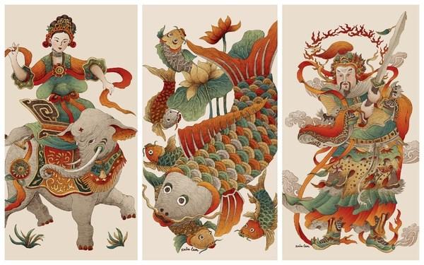 Joven artista vietnamita con deseo de revivir pinturas populares hinh anh 1