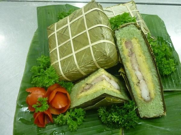 Banh Chung, un manjar especial del Tet hinh anh 1