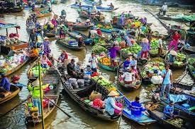Mercado flotante – matiz unico de zonas riberenas en el Delta del Mekong hinh anh 1