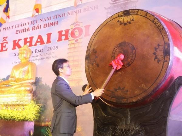 Vicepremier inaugura Festival de Pagoda Bai Dinh hinh anh 1