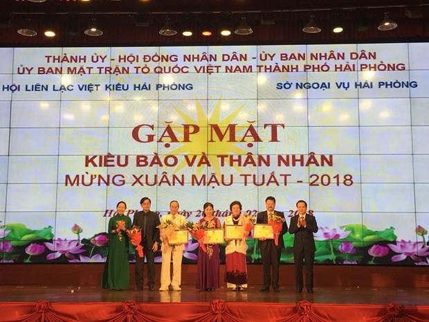 Encuentro en Hai Phong con vietnamitas residentes en ultramar con motivo del Tet hinh anh 1