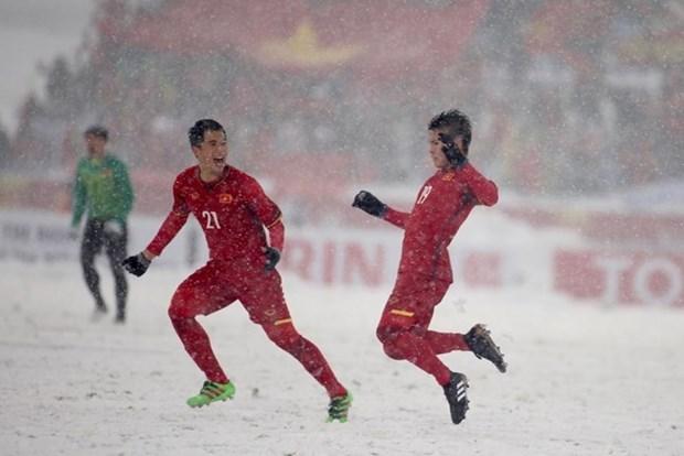 Television japonesa valora altamente el desarrollo de futbol de Vietnam hinh anh 1