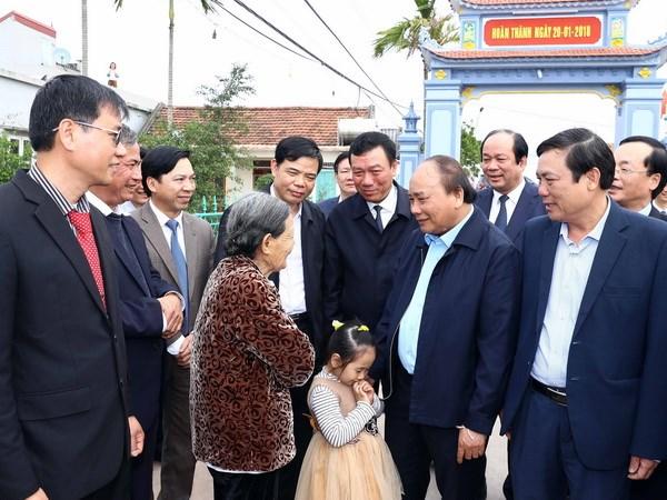 Premier vietnamita estimula produccion agricola en Nam Dinh hinh anh 1