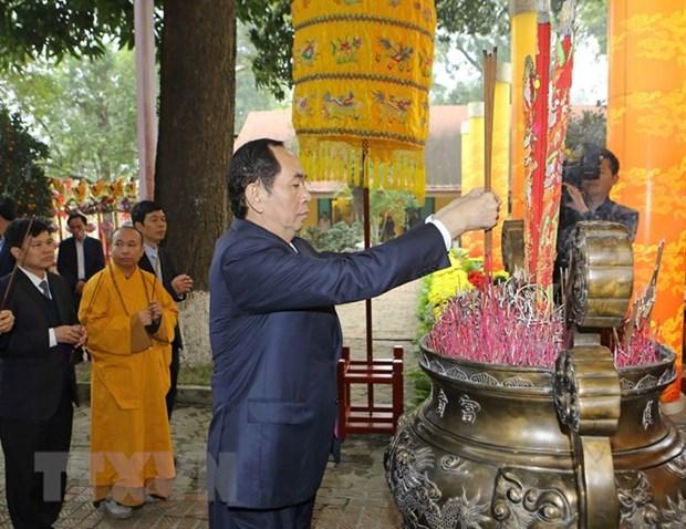 Rinden en ciudadela imperial de Thang Long homenaje a ancetros de la nacion hinh anh 1