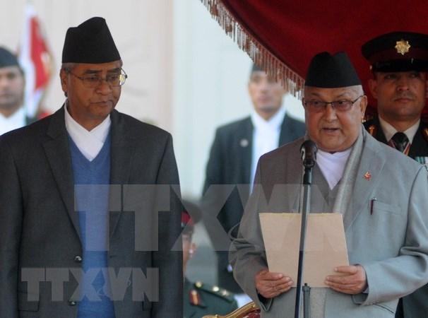 Vietnam felicita a nuevo primer ministro de Nepal hinh anh 1