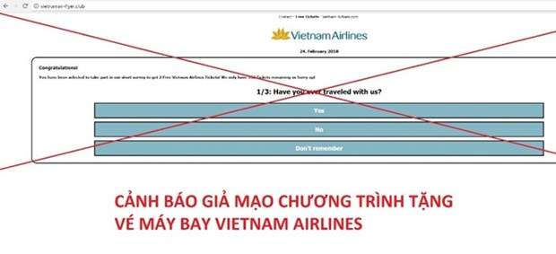 Vietnam Airlines advierte sobre estafa de pasajes gratis hinh anh 1