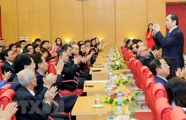 Presidente vietnamita insta a desarrollar modernas tecnicas de salud hinh anh 1