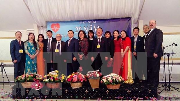 Celebran 20 aniversario de la fundacion de Asociacion de Medicina y Famarcia de Vietnam en Rusia hinh anh 1