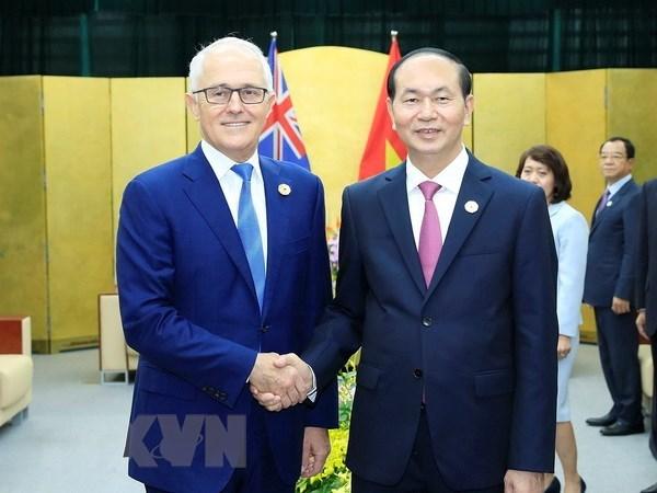 Felicitaciones de dirigentes vietnamitas por aniversario de nexos diplomaticos Vietnam- Australia hinh anh 1