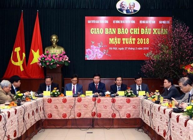 Vicepremier vietnamita destaca aportes de la prensa al desarrollo nacional hinh anh 1