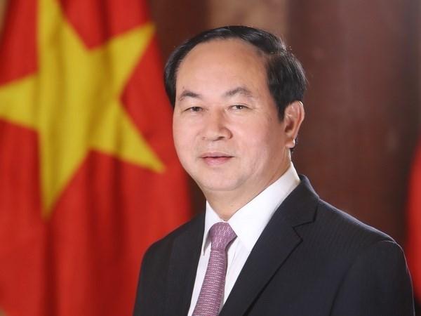 Presidente de Vietnam aboga por estrechar lazos comerciales con India hinh anh 1