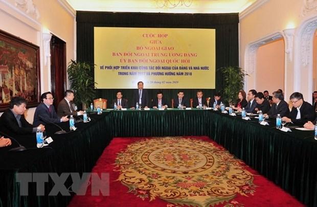 Organos de asuntos exteriores de Vietnam forjan lazos hinh anh 1
