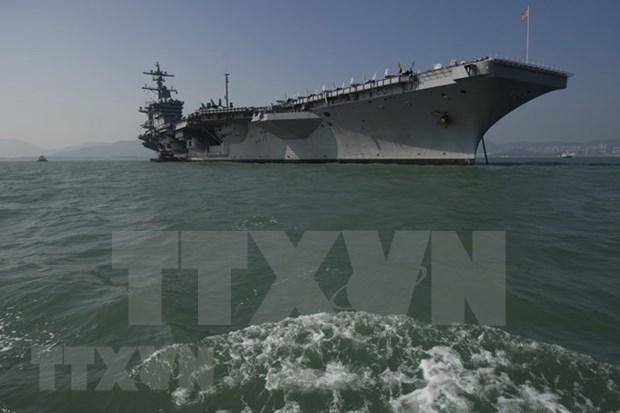 Portaaviones USS Carl Vinson de Estados Unidos visitara ciudad vietnamita de Da Nang hinh anh 1