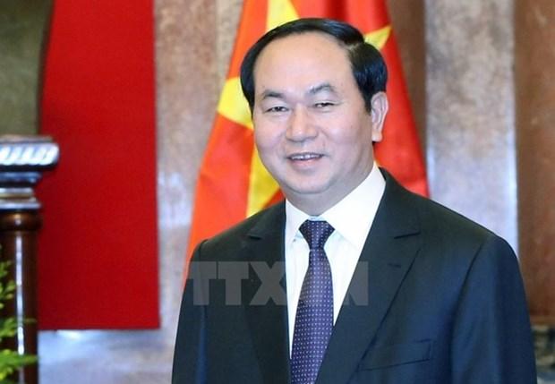 Presidente de Vietnam viaja a la India para visita estatal hinh anh 1