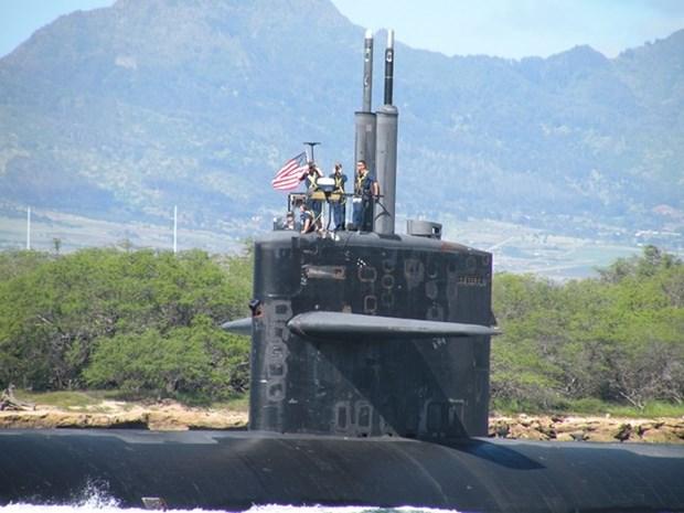 Submarino de ataque de EE.UU. arriba a Filipinas hinh anh 1