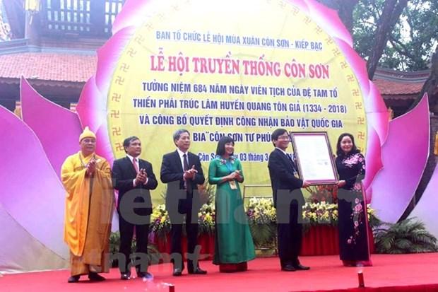 Desarrollan en provincia norvietnamita Festival primaveral Con Son – Kiep Bac 2018 hinh anh 1