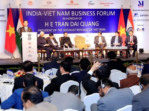 Presidente Tran Dai Quang interviene en Foro Empresarial Vietnam- la India hinh anh 1