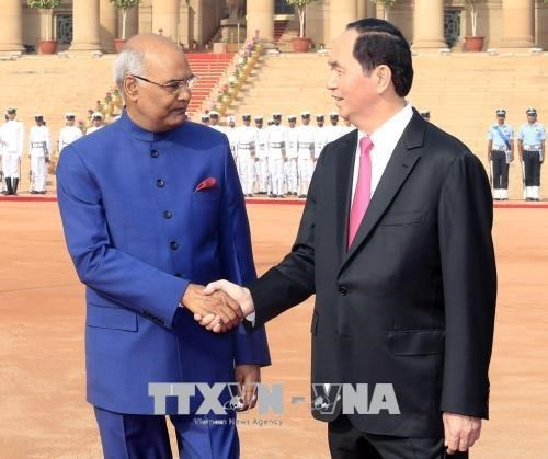 Presidentes de Vietnam e India mantienen conversaciones hinh anh 1