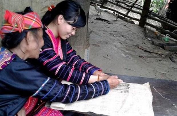 Trajes tradicionales de etnia Mong, patrimonio intangible nacional de Vietnam hinh anh 1