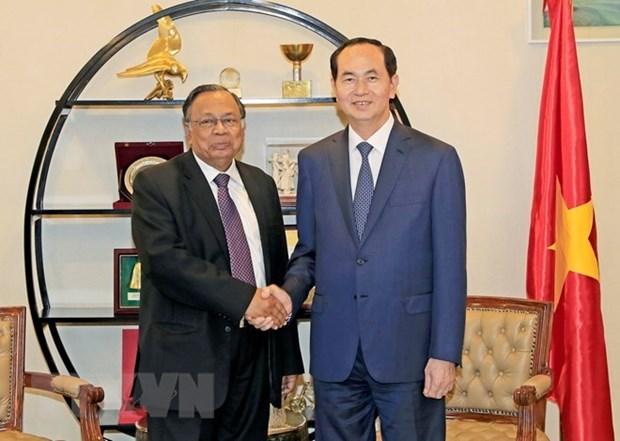 Presidente de Vietnam inicia sus primeras actividades en Bangladesh hinh anh 1