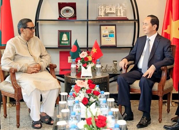 Presidente de Vietnam continua con agenda apretada en Bangladesh hinh anh 1