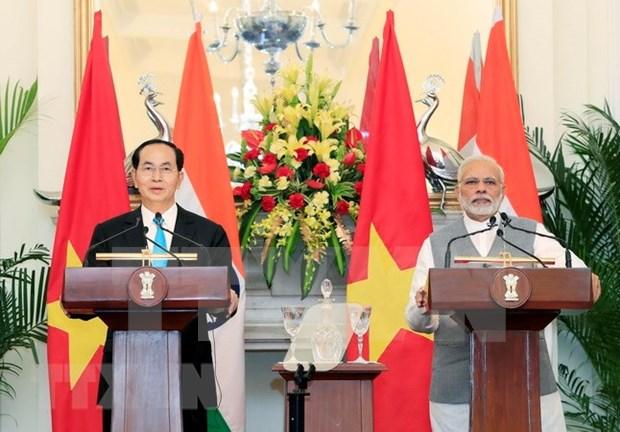 Presidente vietnamita concluye las visitas a India y Bangladesh hinh anh 1