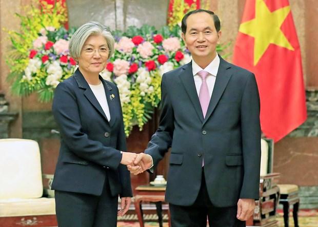 Vietnam aprecia politica hacia el Sur de Sudcorea, afirma presidente Dai Quang hinh anh 1