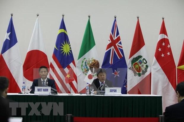 Ministro vietnamita se reune con pares de Japon, Mexico y Chile al margen de firma del CPTPP hinh anh 1