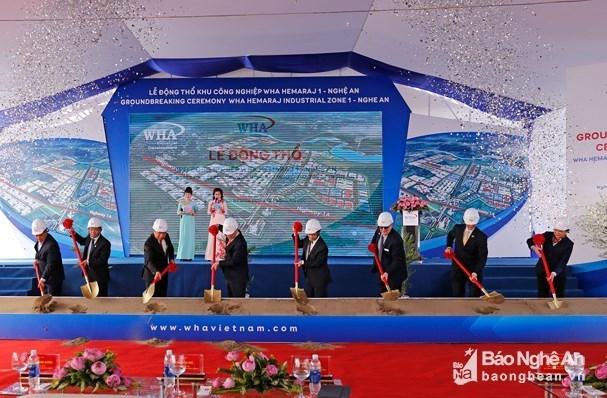 Inician construccion de zona industrial de mil millones de dolares en provincia centrovietnamita hinh anh 1