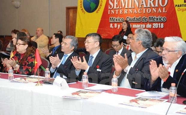Vietnam participa en seminario de partidos de izquierda en Mexico hinh anh 1