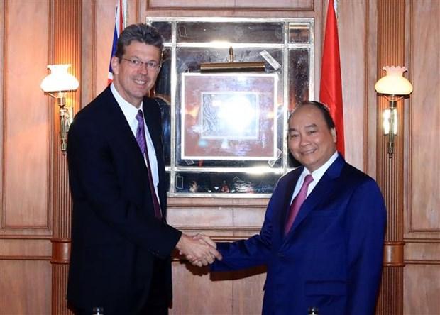 Premier vietnamita recibe a directivos de empresas lecheras de Nueva Zelanda hinh anh 1