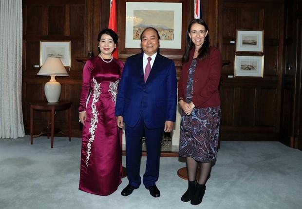 Jacinda Ardern preside acto de bienvenida al primer ministro vietnamita hinh anh 1