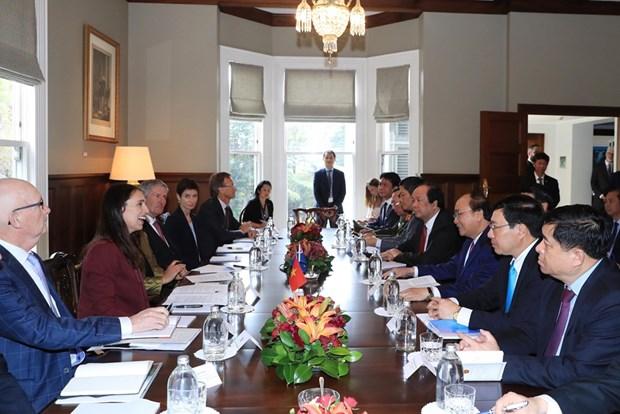 Jacinda Ardern preside acto de bienvenida al primer ministro vietnamita hinh anh 2