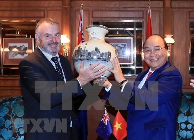 Premier vietnamita dialoga con presidente de la Camara de Representantes de Nueva Zelanda hinh anh 1