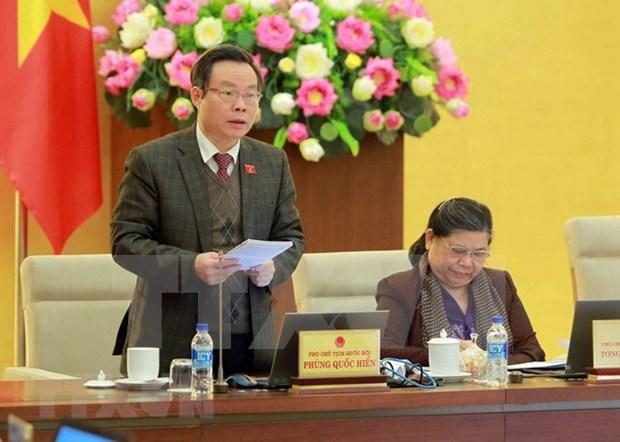 Comite Permanente del Parlamento vietnamita debate sobre borrador de Ley de Competencia (enmendada) hinh anh 1