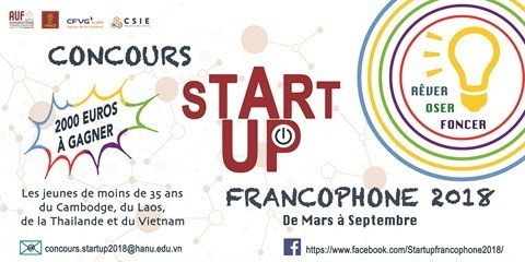 Ya esta abierta la inscripcion para concurso de Start-up Francophone hinh anh 1