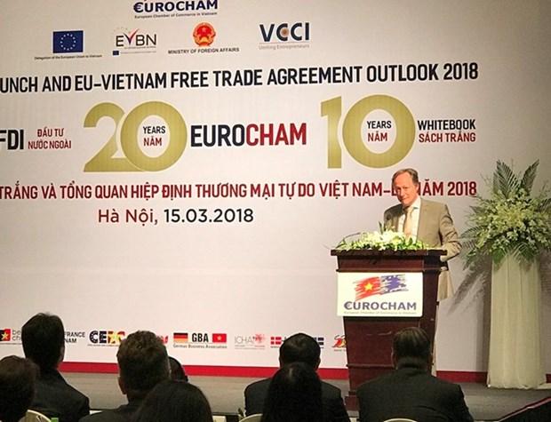 EuroCham publica decima edicion de Libro Blanco en Hanoi hinh anh 1