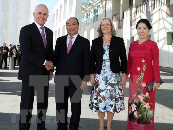 Recibe primer ministro de Australia a su homologo de Vietnam hinh anh 1
