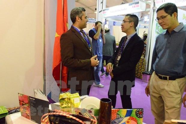 Productos agroforestales de Vietnam captan atencion en Feria Comercial en Egipto hinh anh 1