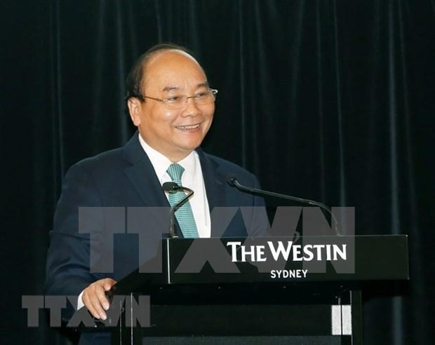 Premier vietnamita aboga por fortalecer lazos empresariales con Australia hinh anh 1