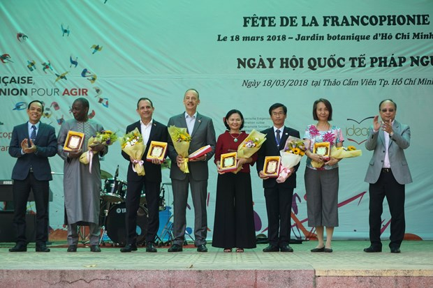Amantes del frances se dan cita en el Festival de Francofonia en Ciudad Ho Chi Minh hinh anh 1