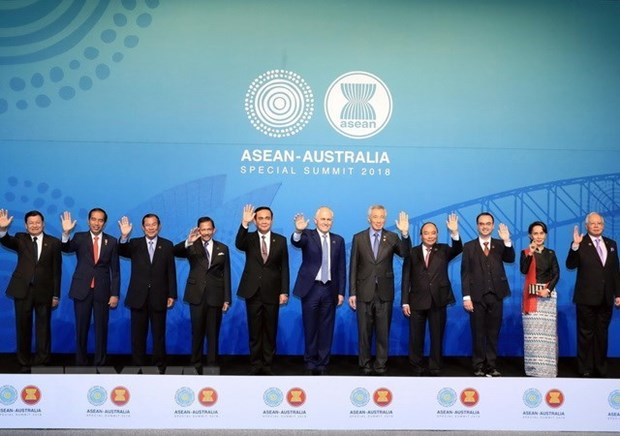 Premier vietnamita destaca buen estado de los nexos ASEAN- Australia hinh anh 1